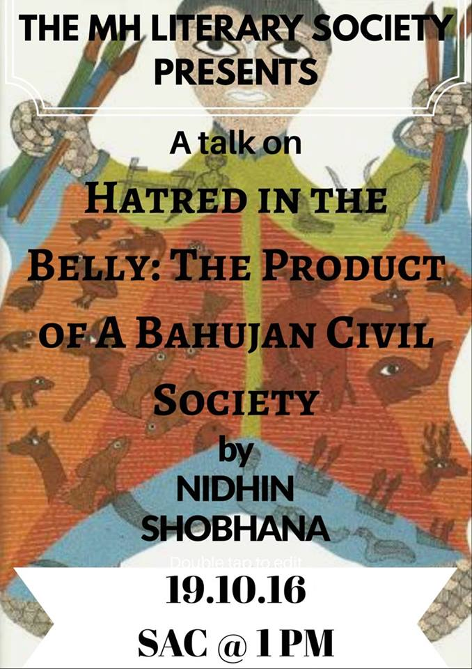 A Talk on Hatred in the Belly: A Product of Bahujan Civil Society