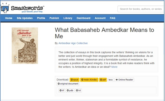 Now on Smashwords – What Babasaheb Ambedkar Means To Me